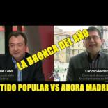 Manuel Cobo del PP pierde los papeles con Sánchez Maro de Ahora Madrid